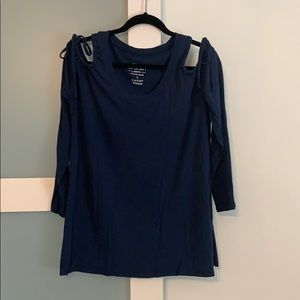 Torrid navy knit top